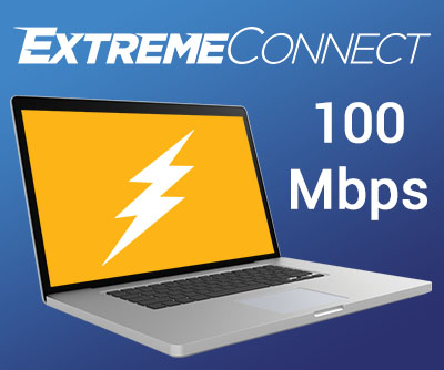 100 Mbps ExtremeConnect Internet