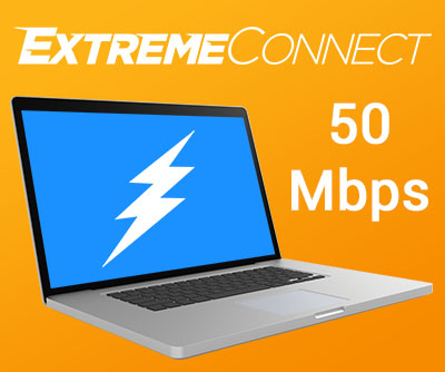 50 Mbps ExtremeConnect Internet